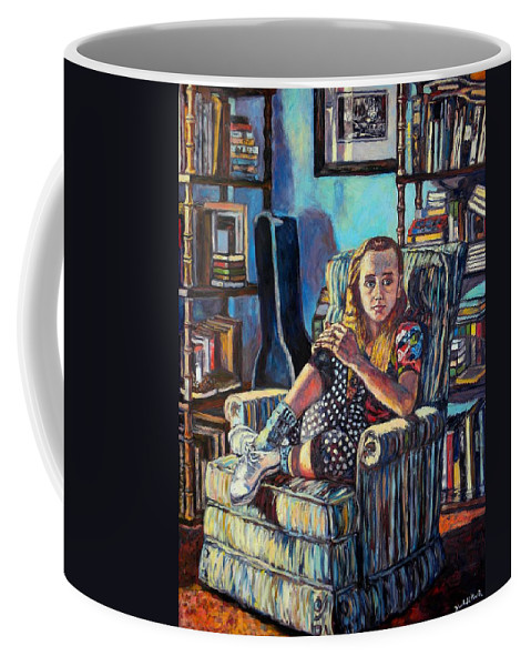 Figure Coffee Mug featuring the painting Samantha by Kendall Kessler