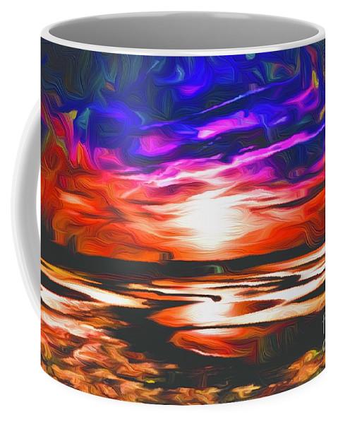 Landscape Coffee Mug featuring the digital art Sands Beach by Michael Stothard