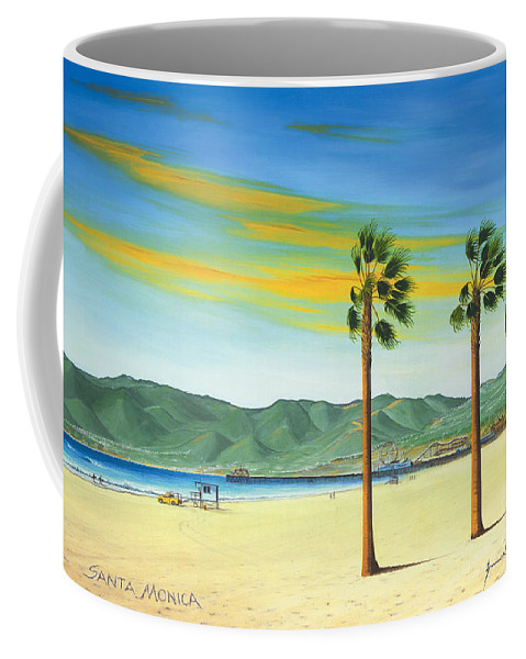 Santa Monica Coffee Mug featuring the painting Santa Monica by Jerome Stumphauzer