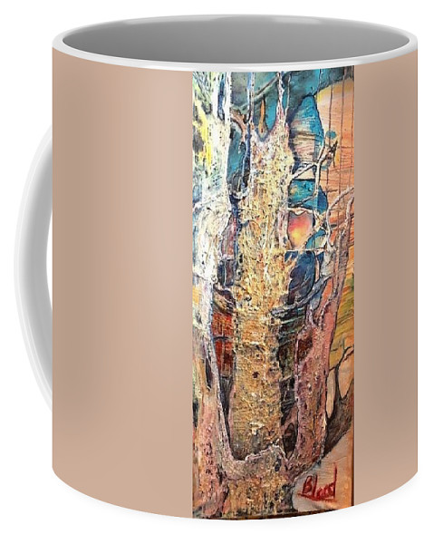 Trees Coffee Mug featuring the painting Sapelo by Peggy Blood