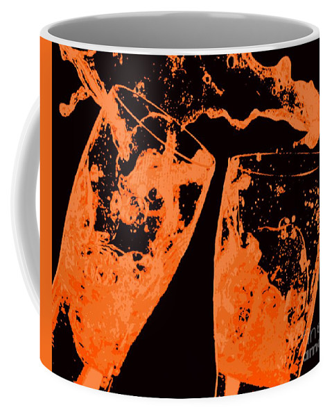Splash Coffee Mug featuring the painting Saturday Suds by Jack Bunds