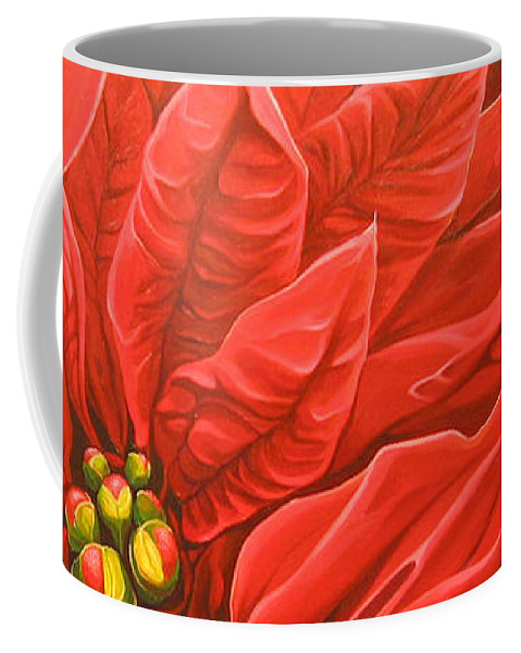 Floral Coffee Mug featuring the painting Scarlet Nights by Hunter Jay
