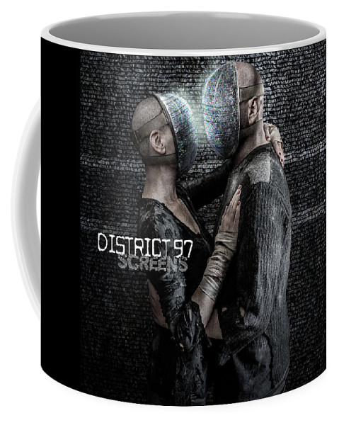Coffee Mug featuring the digital art Screens by District 97