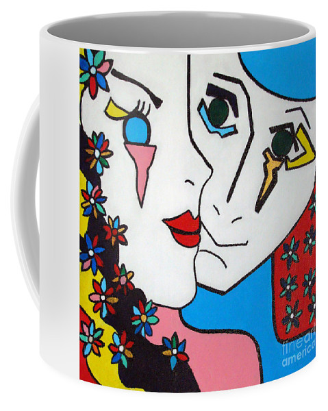Pop-art Coffee Mug featuring the painting Seduction by Silvana Abel