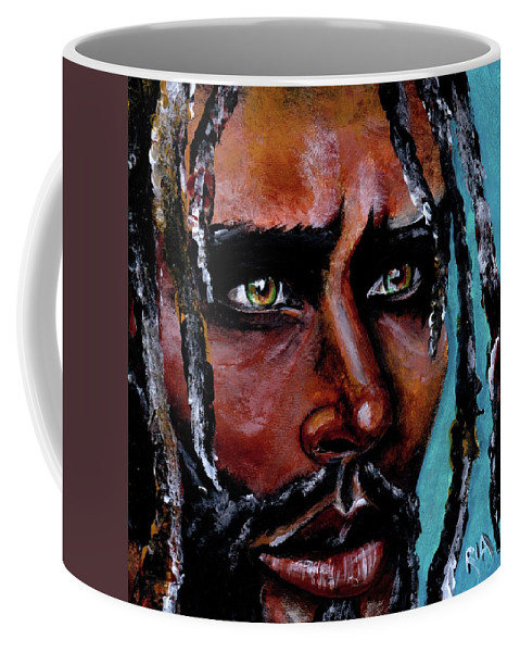 Eyes Coffee Mug featuring the painting Selfless Life by Artist RiA