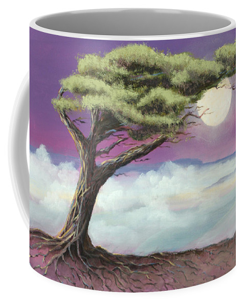 Landscape Coffee Mug featuring the painting Sentinel of the Canyon by Jerry McElroy