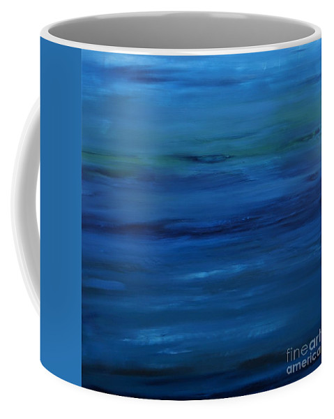 Shades Coffee Mug featuring the painting Shades of Blue by Jimmy Clark