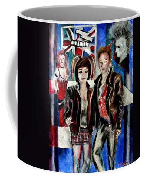 People Coffee Mug featuring the painting Sheena is a punk rocker by Tom Conway