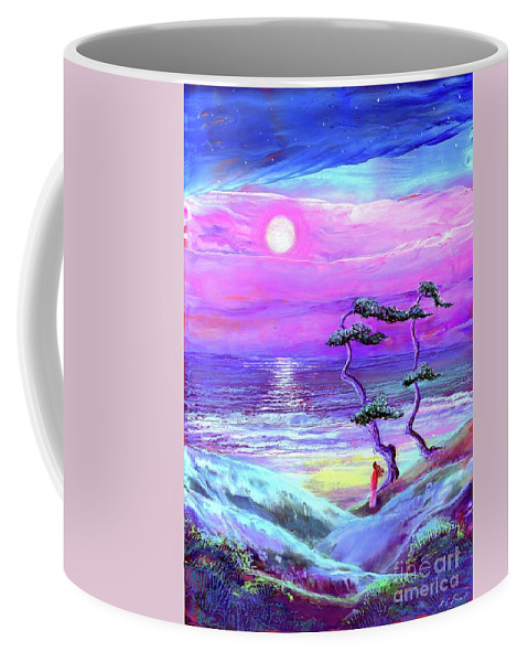 Meditation Coffee Mug featuring the painting Silver Shadows by Jane Small