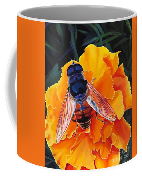 Acrylic On Linen Coffee Mug featuring the painting Simple Things by Hunter Jay