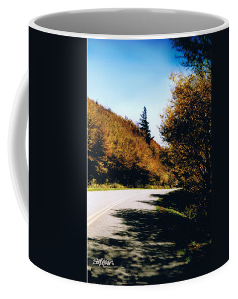 High In The Great Smoky Mtn. As You Round A Curve Stands This Noble Spruce. Coffee Mug featuring the photograph Single Spruce by Seth Weaver