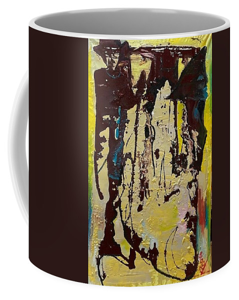 Women Coffee Mug featuring the painting Sisters by Peggy Blood