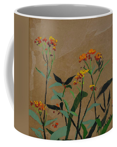 Floral Recycled Collage Coffee Mug featuring the painting Smith Garden by Leah Tomaino