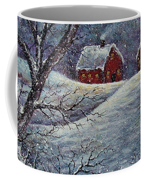 Landscape Coffee Mug featuring the painting Snowy Day by Natalie Holland