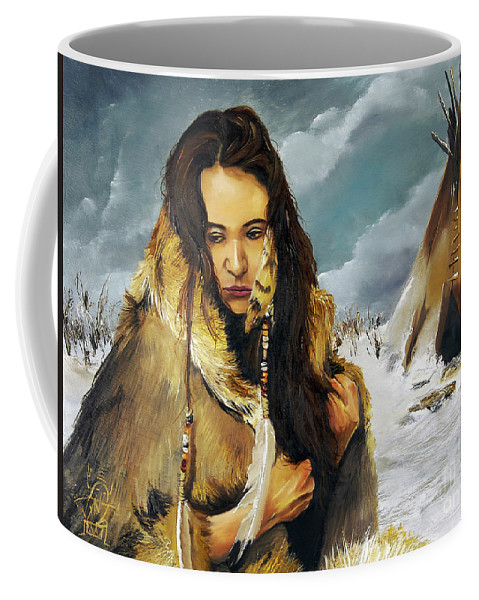 Southwest Art Coffee Mug featuring the painting Solitude by J W Baker