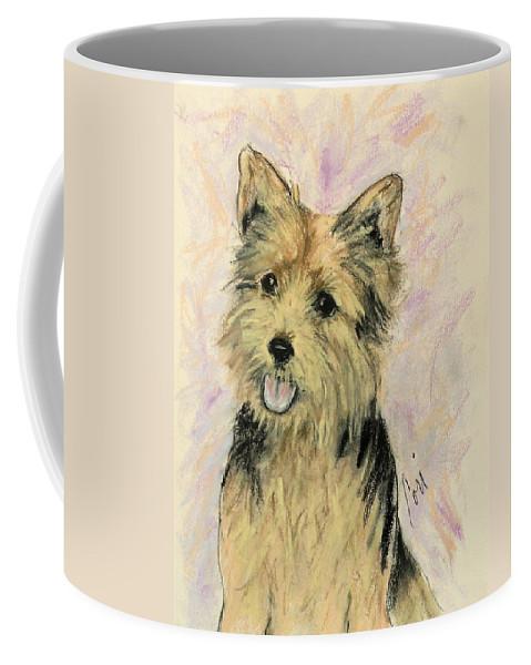 Dog Coffee Mug featuring the drawing Soulmate by Cori Solomon