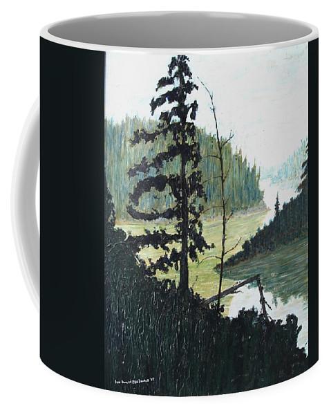 Sudbury Coffee Mug featuring the painting South of Sudbury by Ian MacDonald