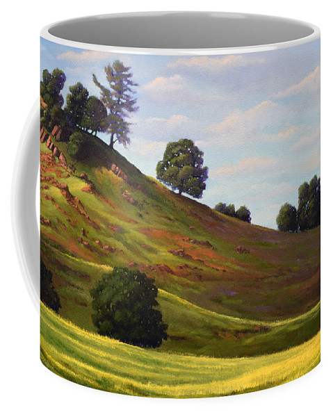 Landscape Coffee Mug featuring the painting Spring Day by Frank Wilson