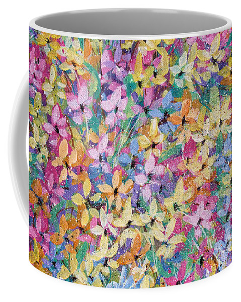 Flowers Coffee Mug featuring the painting Spring floral bouquet. by Natalie Holland