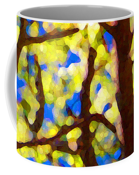 Abstract Coffee Mug featuring the painting Spring Tree by Amy Vangsgard