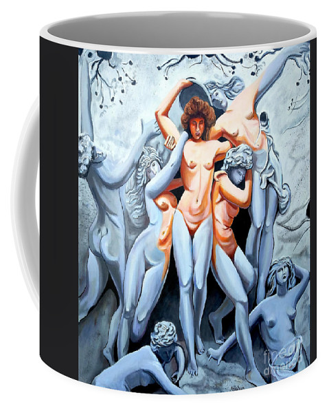 Statue Women Coffee Mug featuring the painting Statue 3 by Jose Manuel Abraham