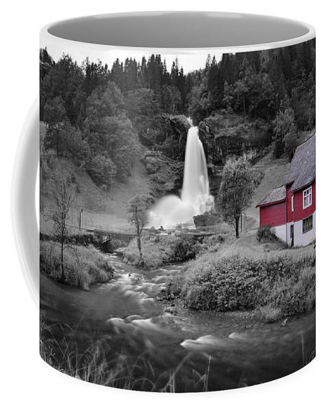 Coffee Mug featuring the photograph Steinsdalsfossen by Pop