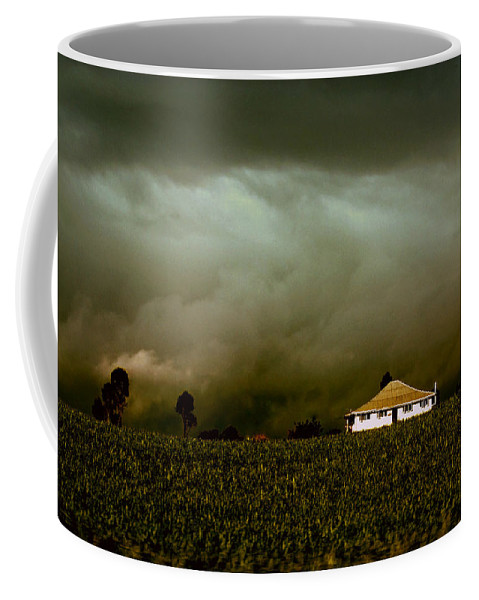 Landscape Coffee Mug featuring the photograph Storm on the Rise by Holly Kempe