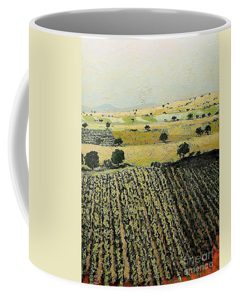 Landscape Coffee Mug featuring the painting Storms Over by Allan P Friedlander
