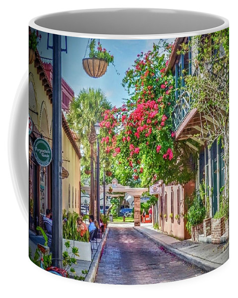 St. Augustine Coffee Mug featuring the photograph Street of St. Augustine by Debbi Granruth