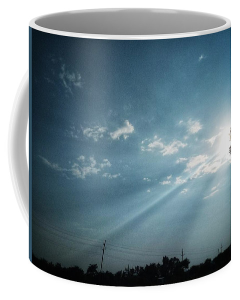 Sky Coffee Mug featuring the photograph Striking rays by Yvonne's Ogolla