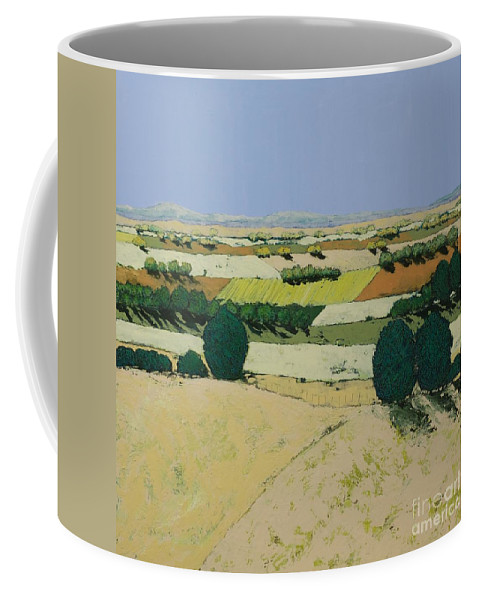 Landscape Coffee Mug featuring the painting Summer Candy by Allan P Friedlander
