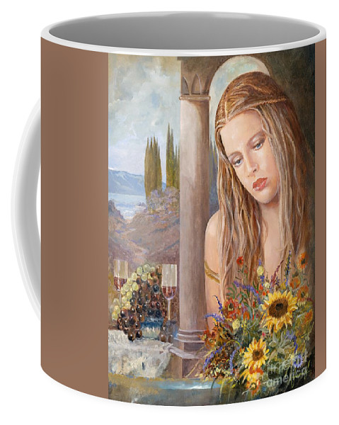 Portrait Coffee Mug featuring the painting Summer Day by Sinisa Saratlic