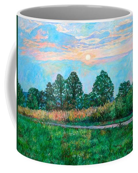 Kendall Kessler Coffee Mug featuring the painting Sunset Near Fancy Gap by Kendall Kessler