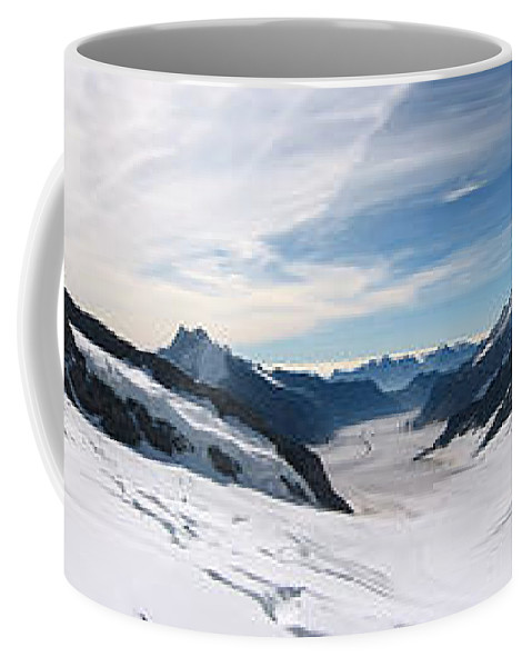 3scape Coffee Mug featuring the photograph Swiss Alps by Adam Romanowicz