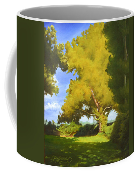 Sycamore Tree Coffee Mug featuring the painting Sycamore by Gary Hernandez