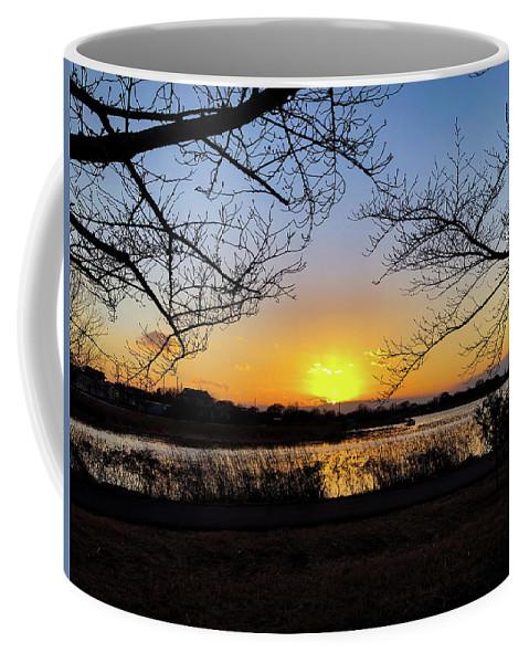 Sunset Coffee Mug featuring the photograph Tatebayashi Sunset by Kiyoto Matsumoto