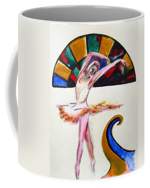 Female Coffee Mug featuring the painting The Ballerina by Tom Conway