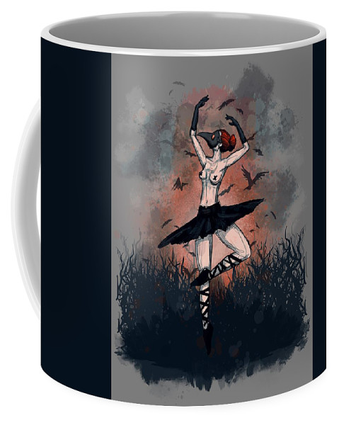Plague Coffee Mug featuring the drawing The Dance by Ludwig Van Bacon
