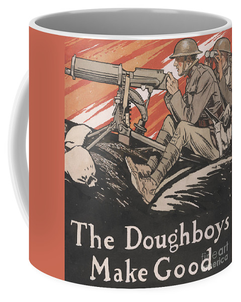 Doughboys Coffee Mug featuring the painting The Doughboys make Good, 1918 by Edward Penfield