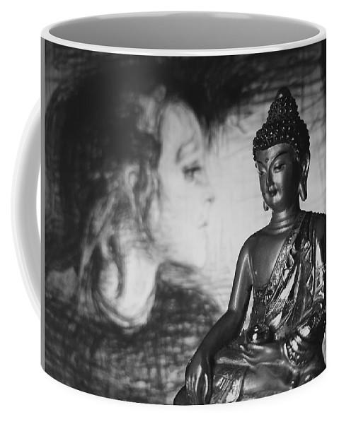 Buddha Coffee Mug featuring the photograph The Healer by Barista Uno