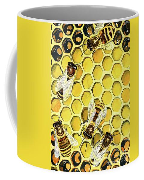Honeybee Coffee Mug featuring the painting The Honeybee by Antony Galbraith