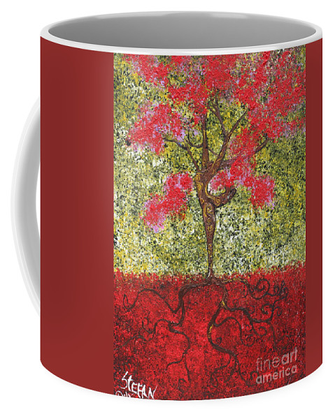 Dancer Coffee Mug featuring the painting The Lady Tree Dancer by Stefan Duncan