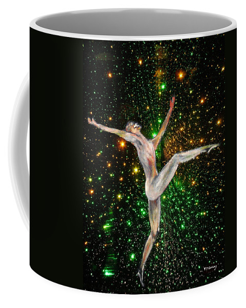 Dance Coffee Mug featuring the painting The Light Fantastic Dance and Stars by Tom Conway