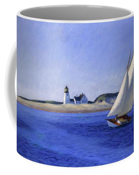 Edward Hopper Coffee Mug featuring the painting The Long Leg by Edward Hopper