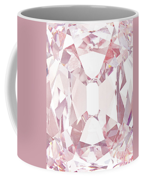 Pink Coffee Mug featuring the photograph The Princie Diamond, Detail by American School