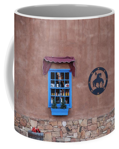 Architecture Coffee Mug featuring the photograph The Santa Fe Window by Rob Hans