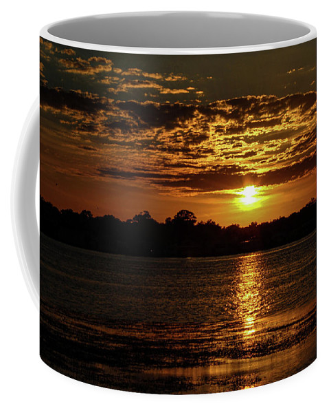 Sunset Coffee Mug featuring the photograph The Sunset over the Lake by Daniel Cornell