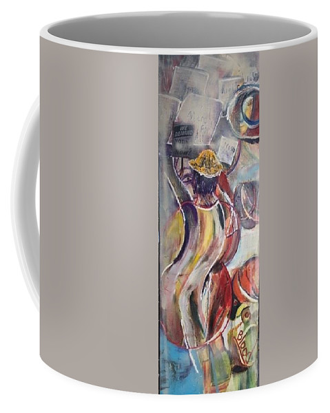 Demonstration Coffee Mug featuring the painting The Time is Now by Peggy Blood