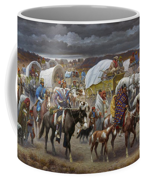 1838 Coffee Mug featuring the painting The Trail Of Tears by Granger