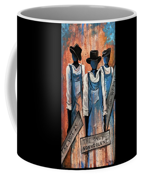 Coffee Mug featuring the painting The Vote by Sonja Griffin Evans